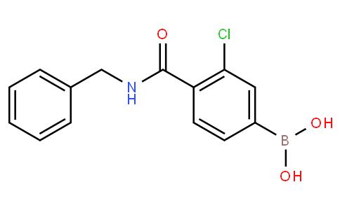 3-Chloro-4-(N-benzylcarbamoyl)phenylboronic acid