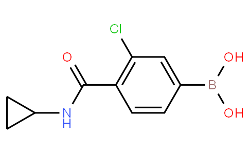 3-Chloro-4-(cyclopropylcarbamoyl)phenylboronic acid