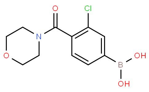 3-Chloro-4-(morpholine-4-carbonyl)phenylboronic acid