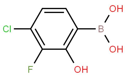 4-Chloro-3-fluoro-2-hydroxyphenylboronic acid