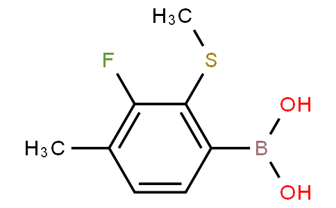 3-Fluoro-4-methyl-2-(methylthio)phenylboronic acid