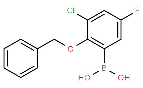 2-Benzyloxy-3-chloro-5-fluorophenylboronic acid