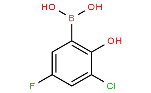 3-Chloro-5-fluoro-2-hydroxyphenylboronic acid