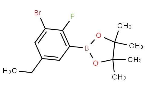 3-Bromo-5-ethyl-2-fluorophenylboronic acid pinacol ester