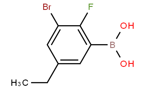3-Bromo-5-ethyl-2-fluorophenylboronic acid