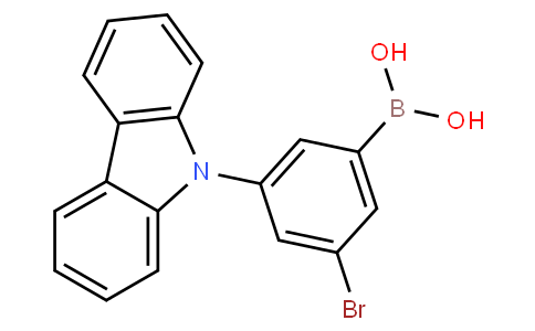3-Bromo-5-(9H-carbazol-9-yl)-phenylboronic acid