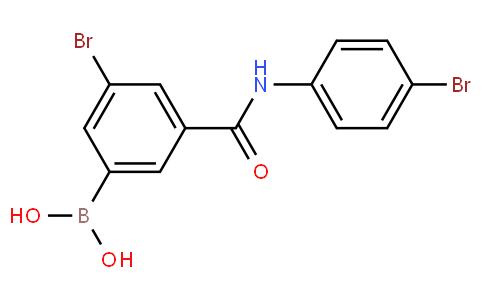 5-Bromo-3-(4-bromophenylcarbamoyl)phenylboronic acid