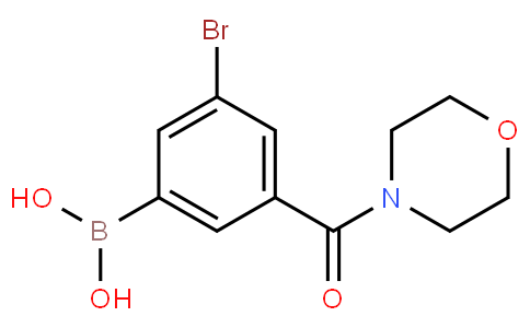 5-Bromo-3-(morpholine-4-carbonyl)phenylboronic acid