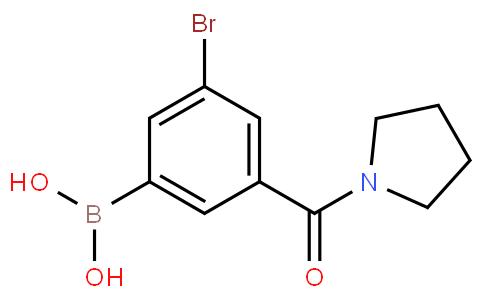 5-Bromo-3-(pyrrolidine-1-carbonyl)phenylboronic acid