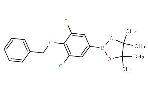4-Benzyloxy-3-chloro-5-fluorobenzeneboronic acid pinacol ester