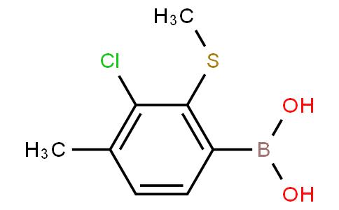 3-Chloro-4-methyl-2-(methylthio)phenylboronic acid