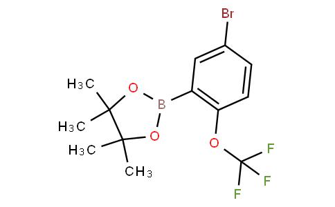 5-Bromo-2-trifluoromethoxyphenylboronic acid pinacol ester