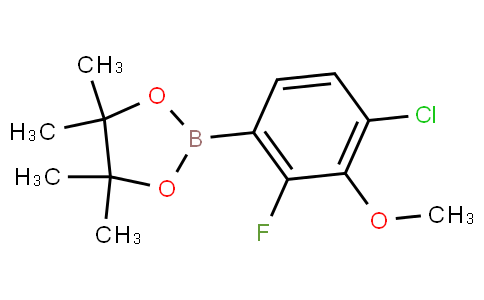 4-Chloro-2-fluoro-3-methoxyphenylboronic acid pinacol ester