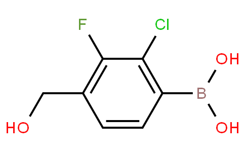 2-Chloro-3-fluoro-4-(hydroxymethyl)phenylboronic acid