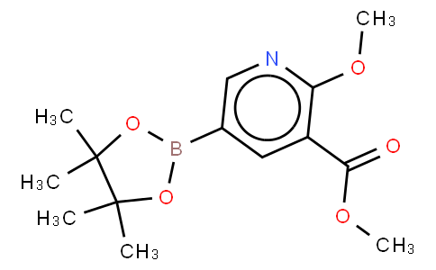 2-Methoxy-3-(carbomethoxy)pyridine-5-boronic acid, pinacol ester