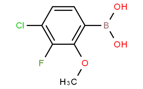 4-Chloro-3-fluoro-2-methoxyphenylboronic acid