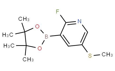 [2-Fluoro-5-(methylsulfanyl)pyridin-3-yl]boronic acid pinacol ester