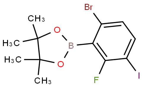 6-Bromo-2-fluoro-3-iodophenylboronic acid pinacol ester