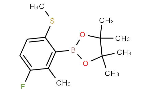 3-Fluoro-2-methyl-6-(methylthio)phenylboronic acid pinacol ester