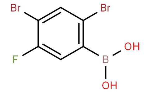 2,4-Dibromo-5-fluorophenylboronic acid
