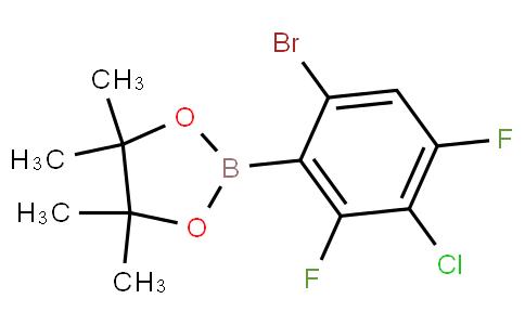 6-Bromo-3-chloro-2,4-difluorophenylboronic acid pinacol ester