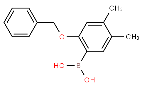 2-Benzyloxy-4,5-dimethylphenylboronic acid