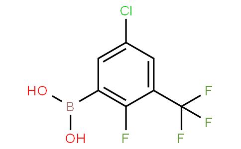 5-Chloro-2-fluoro-3-(trifluoromethyl)phenylboronic acid