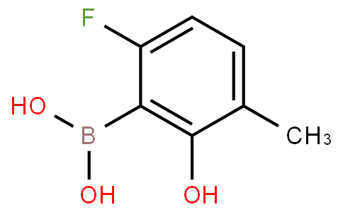 6-Fluoro-2-hydroxy-3-methylphenylboronic acid