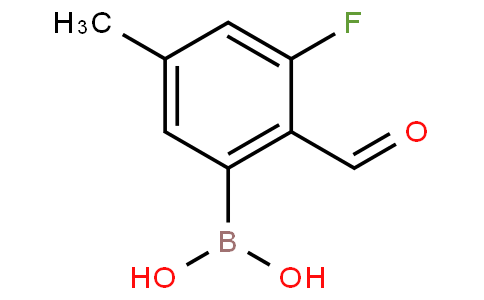 3-Fluoro-2-formyl-5-methylphenylboronic acid