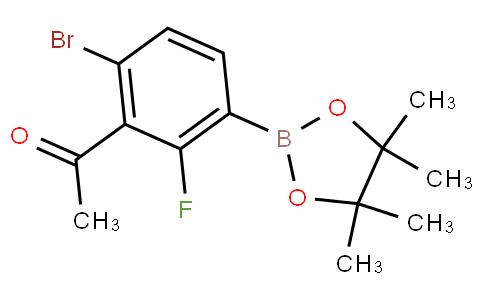3-Acetyl-4-bromo-2-fluorophenylboronic acid pinacol ester