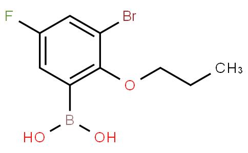 3-Bromo-5-fluoro-2-propoxyphenylboronic acid